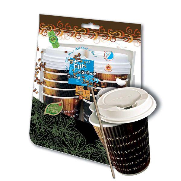 Ruffles Paper Cup 12oz w/ Lid Stirrer