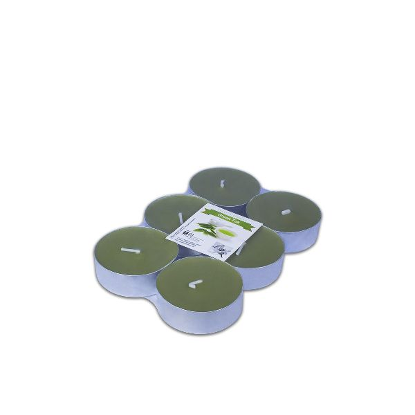 Scented Maxi-Tealight Candles 5.8x2cm - Green Tea