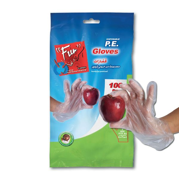 Standard P.E. Gloves Clear Embossed