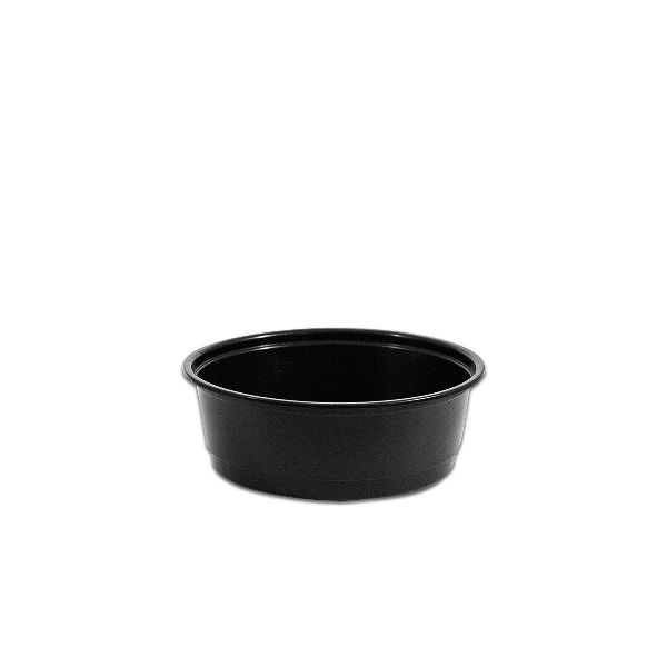 Towerpac Black Round Container