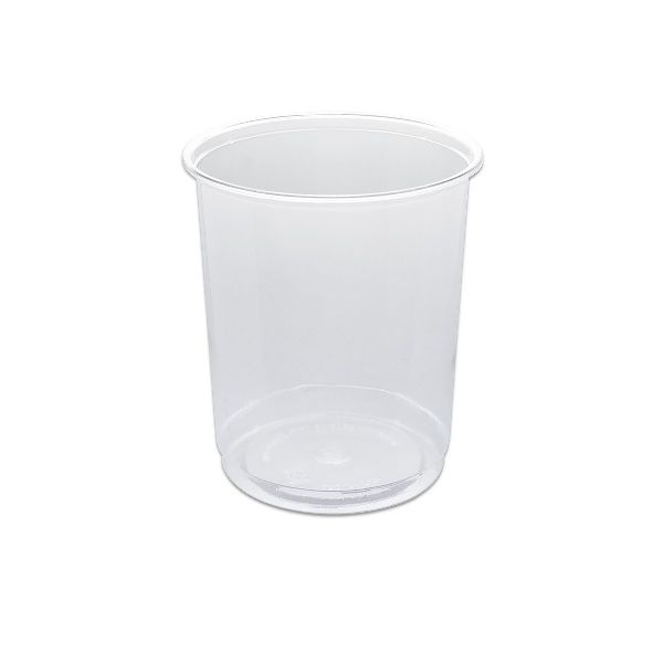 Clear Round Container Flat Base