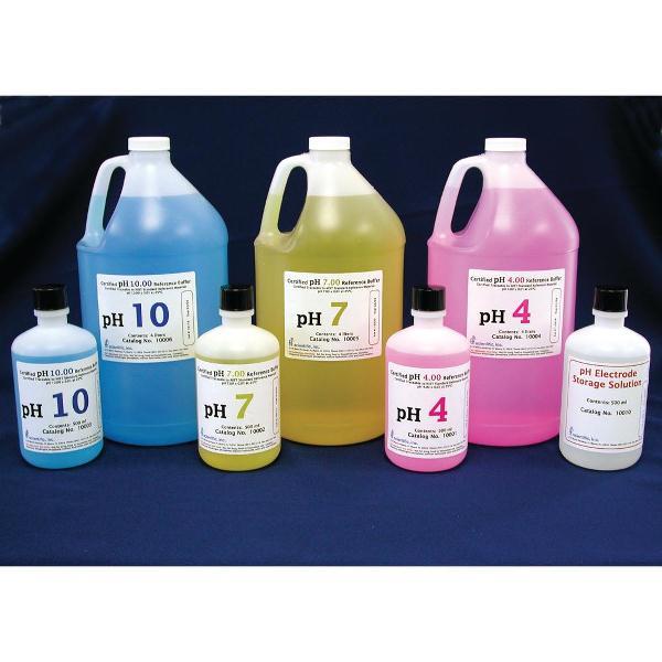 pH buffers bottles or one gallon bottles