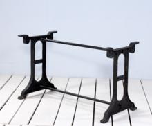 Cast iron singer communal bar table base