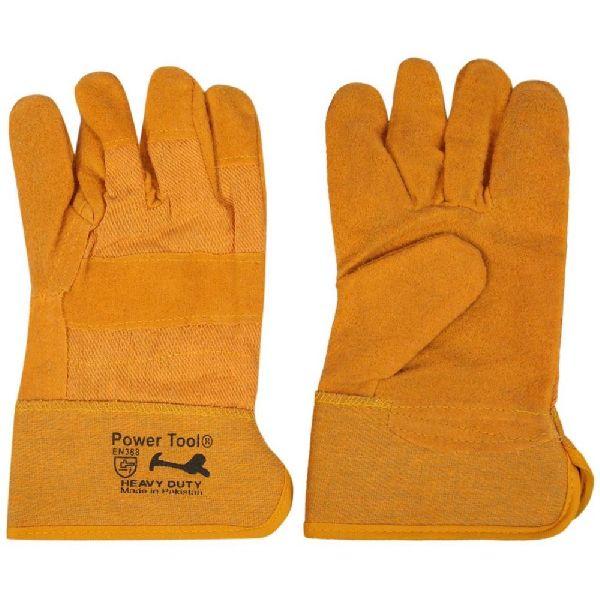 Yellow Fabric Gloves 808
