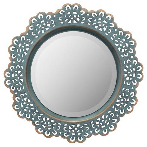 Aluminium cast wall mirror
