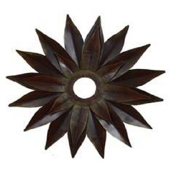 Black flower wall art mirror