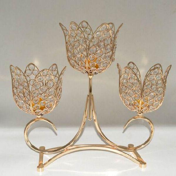 lotus crystal ball design candle holder