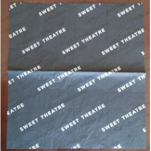 logo printed Black Wrapping tissue Paper