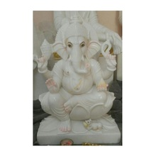 Antique Italian Marble God Ganesha Statue