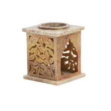 Cube Design Marble Candle Holder