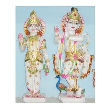 Handmade Marble Radha Krishna Goddess Statue