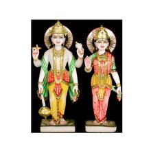 Marble Laxmi Narayan Standing Statue
