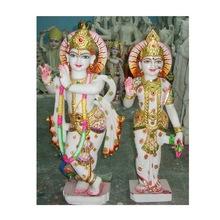 Pure Marble Radha Krishna Standing Statue