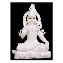 White Marble Shankar Ji Statue