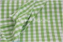 Cotton Checks Furnishing Fabric