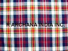 Madras Check Fabric