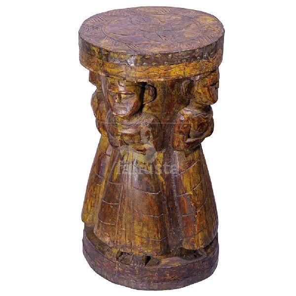 Antique Look Wooden Stool
