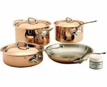 brass handle Copper frying pan