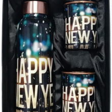 WATER BOTTLE SET WITH DRINKING GLASSES