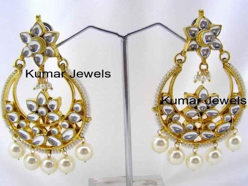 5290dd9d06536 AMAZING KUNDAN FANCY PEARL DROP EARRINGS Manufacturer in Jalandhar ...