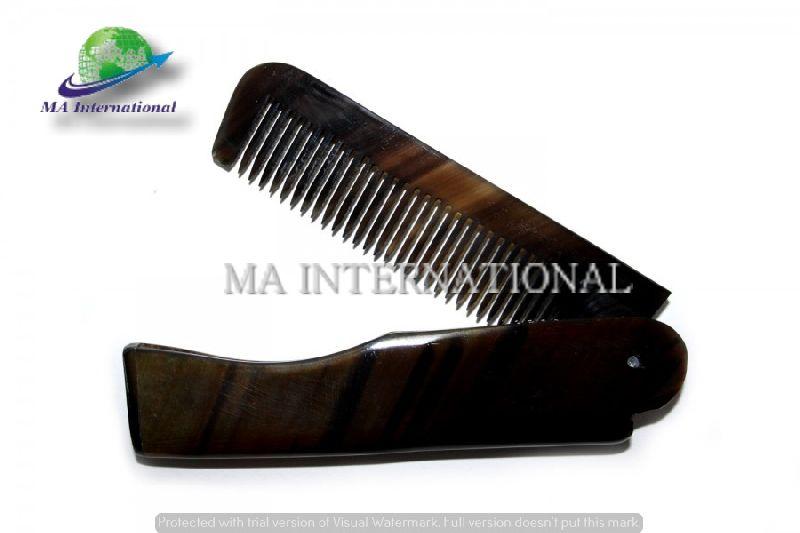 100% natural buffalo horn foldable hair comb beard comb Manufacturer