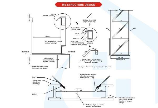 Mild Steel Structure Designing Services