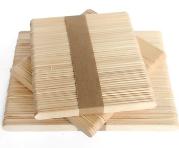 Straight Edge Wooden Ice Cream Sticks (165532)
