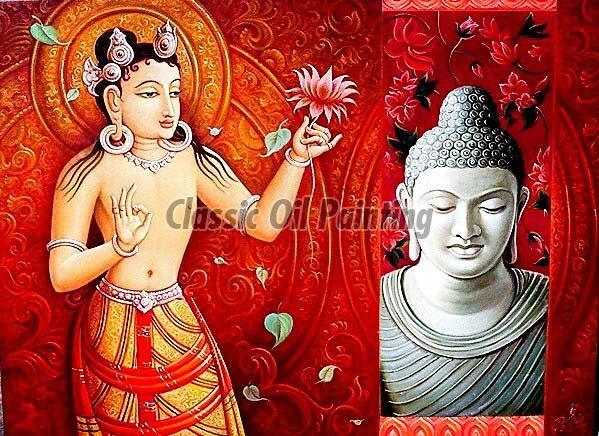 Buddha oil paintings