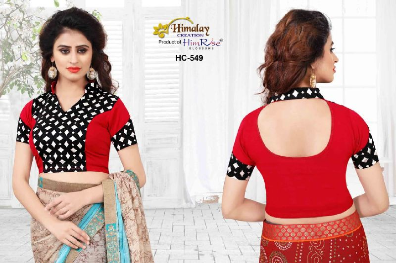 website for discount great look huge selection of Ready Made Fancy Party Wear Printed Designer Blouse (HC = 549)