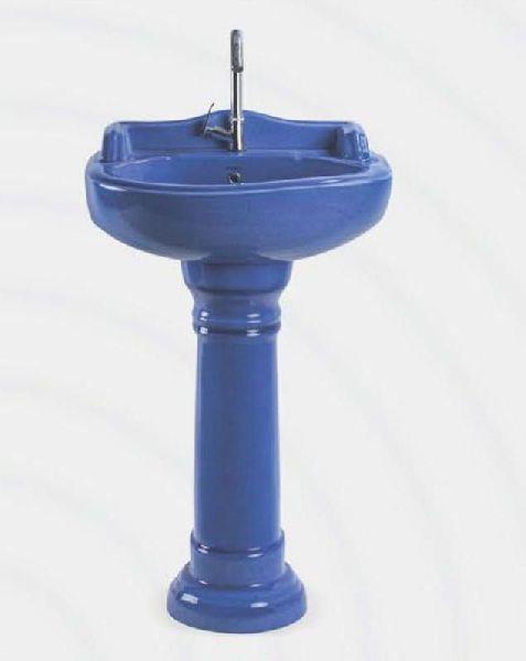 Serena Rustic Designer Pedestal Wash Basin