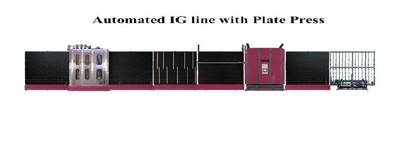 Automated IG line with Plate Press