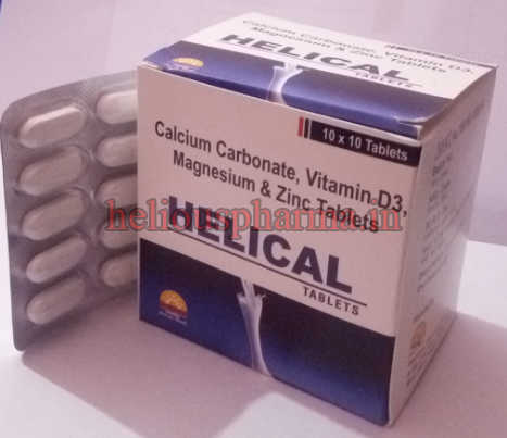 Helical Calcium Tablet Manufacturer In Patna Bihar India By Helious