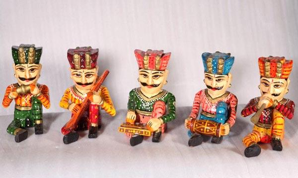 Wooden Handicraft Musician Set