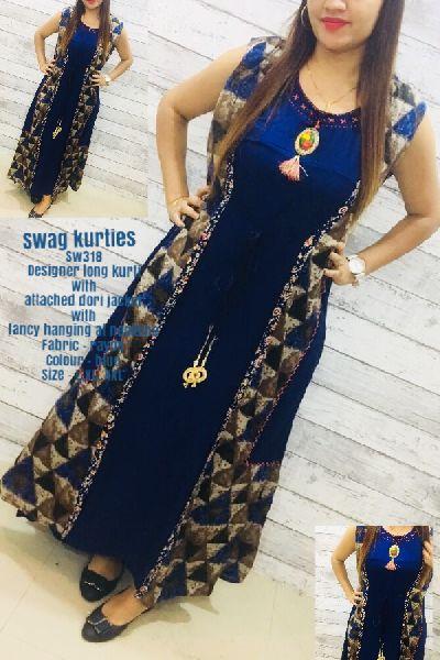 Designer Long Kurti With Jacket Manufacturer In Surat Gujarat India