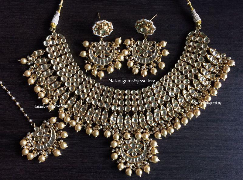 b088b6c05d5 Pearl Kundan Imitation Necklace Set Manufacturer in Jaipur Rajasthan ...