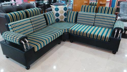Steel Handle Sofa Set L Shape Manufacturer In Kolkata West Bengal