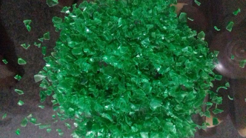 COLD WASHED PET FLAKES GREEN