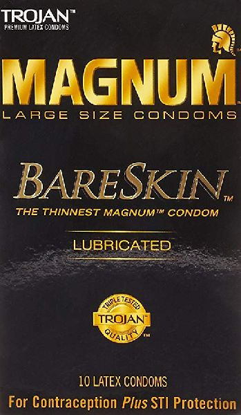 Ice Fire Trojan Magnum Bareskin Lubricated Large Size Condoms