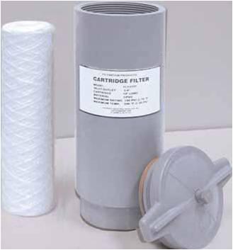 PVC or CPVC Cartridge Filter Housings