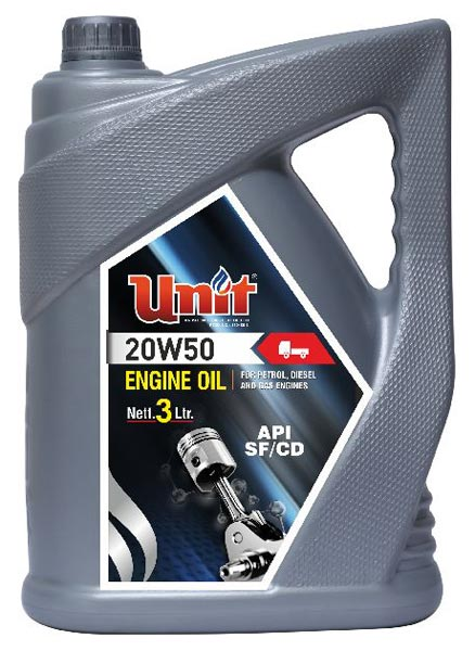 Buy UNIT 20W50 Gas Engine Oil (API CD/SF) from Unit Grease