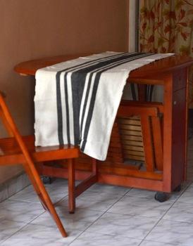 stripe Linen cotton blended table runner