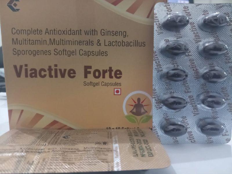 Complete Antioxidant Ginseng, Multivitamin, Multiminerals & Lactobacillus Sporogenes Softgel Capsules
