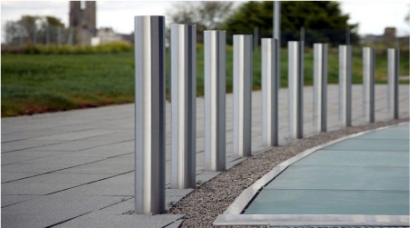 steel bollards Manufacturer in Haryana India by EURONICS