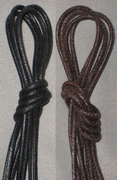 cotton wax coated laces