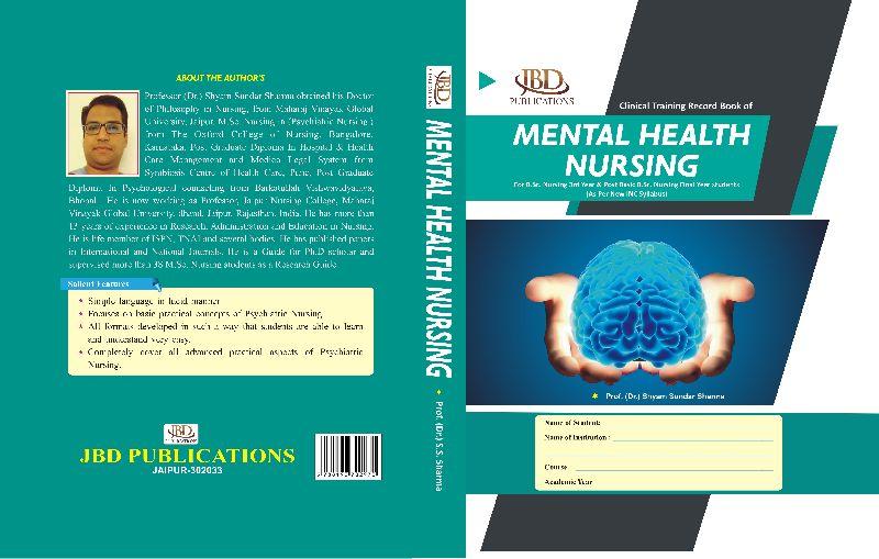 MENTAL HEALTH NURSING RECORD BOOK