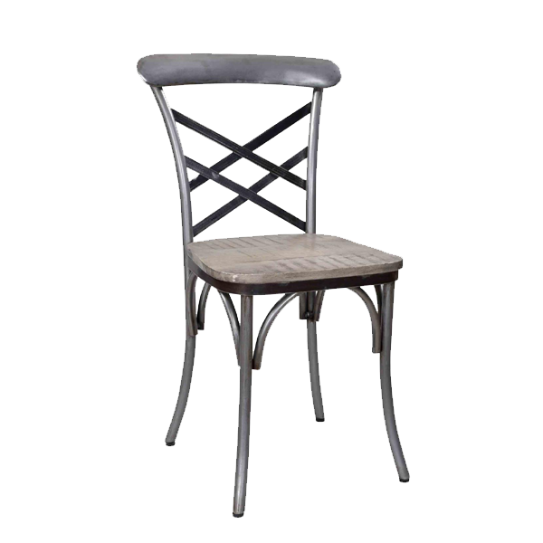 vintage Wood iron antique finish dining room chair