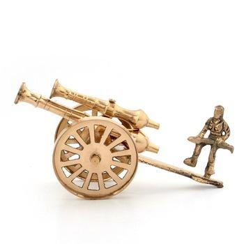 Brass Rajasthani Canon witn Man Handicraft Home Decor