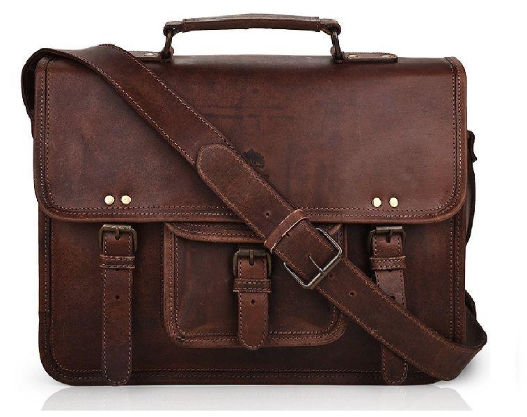 770fe8e984 Rustic Vintage Leather Messenger Bag Laptop Bag Briefcase Satchel Bag By Znt  Bags