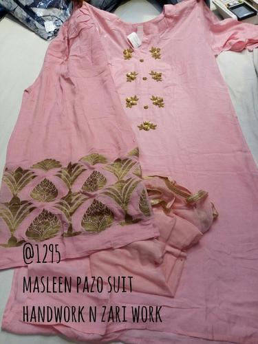 Designer Masleen Plazo Ladies Suit