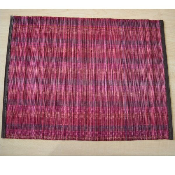 Eco Friendly Deep Red Bamboo Placemats
